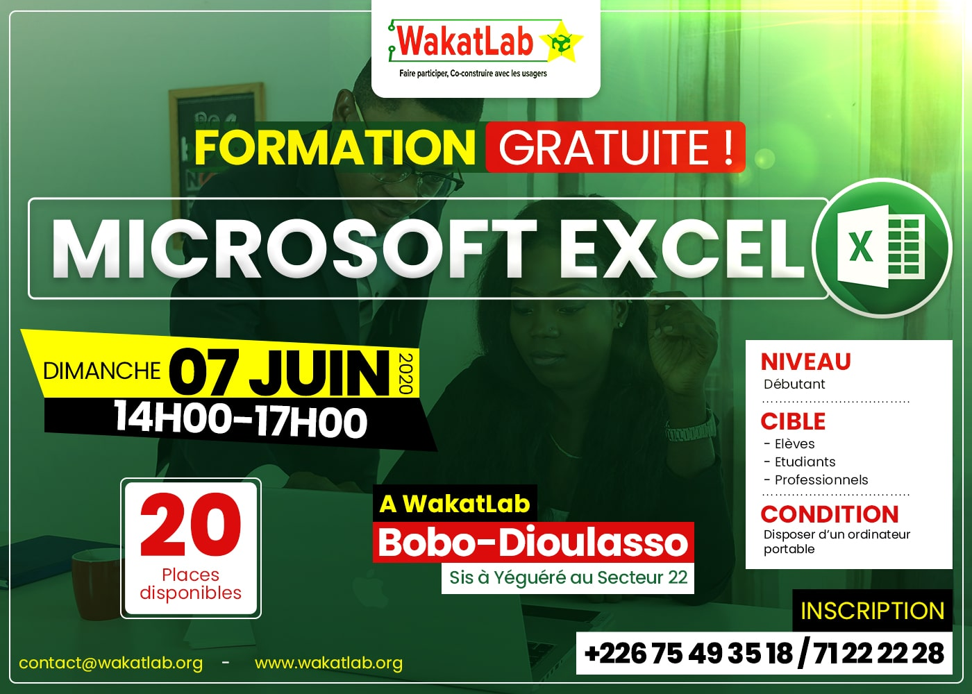 Formation gratuite en Bureautique: Excel