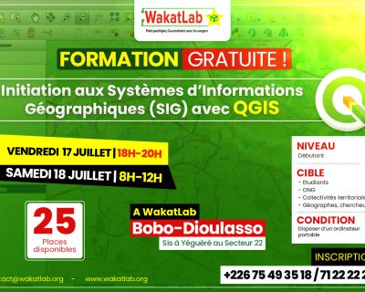Formation gratuite : Initiation aux Systèmes d'Informations Géographiques (SIG) avec le logiciel QGIS
